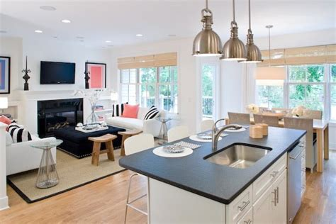 kitchen family room open floor plan open kitchen floor plans with islands home design and
