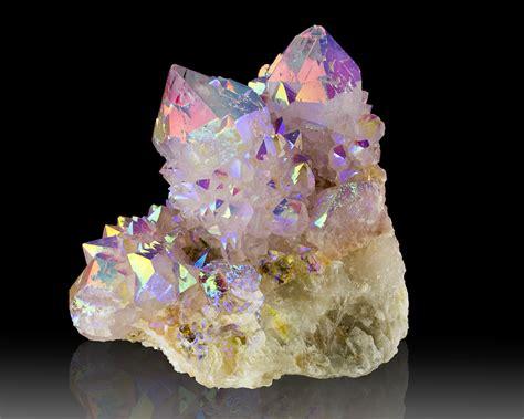 aura crystals 3 1 quot flashing sparkly iridescent rainbow aura quartz