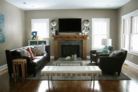 Where To Place Furniture In Living Room by How To Arrange Living Room Furniture With Fireplace And Tv