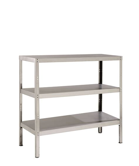 stainless steel hospital 3 shelf storage rack rack3scl
