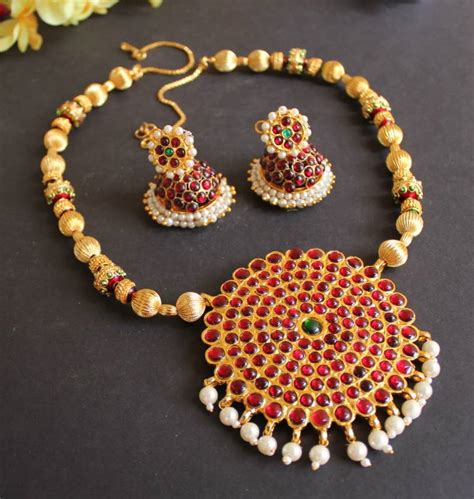 how to make indian jewelry buy beautiful handmade kemp temple necklace set dj15804