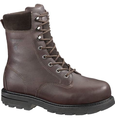 work boots wolverine cannonsburg 8 inch steel toe work boot w04452
