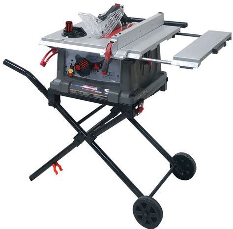 best portable table saws craftsman jt2504rc 10 quot portable table saw sears outlet