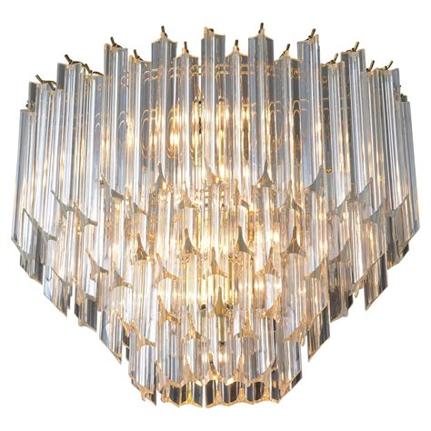vintage oval shaped lucite chandelier at 1stdibs