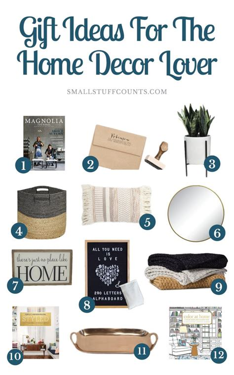 a dozen of the best home decor gift ideas