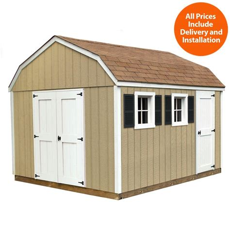 Home Depot Installed Sheds by Sheds Usa Installed Horizon 10 Ft X 12 Ft Smart Siding
