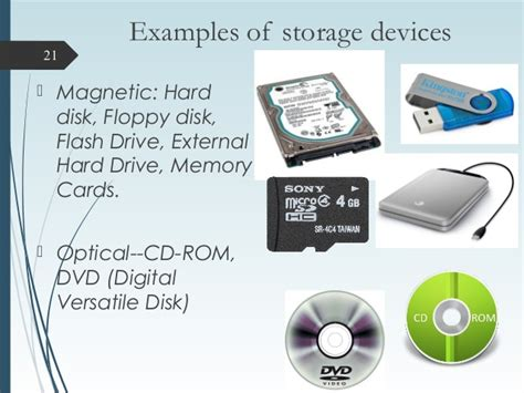storage devices computer hardware and its components