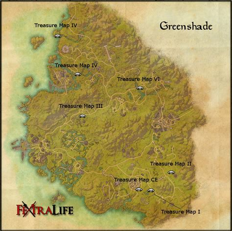 greenshade treasure map v elder scrolls online wiki