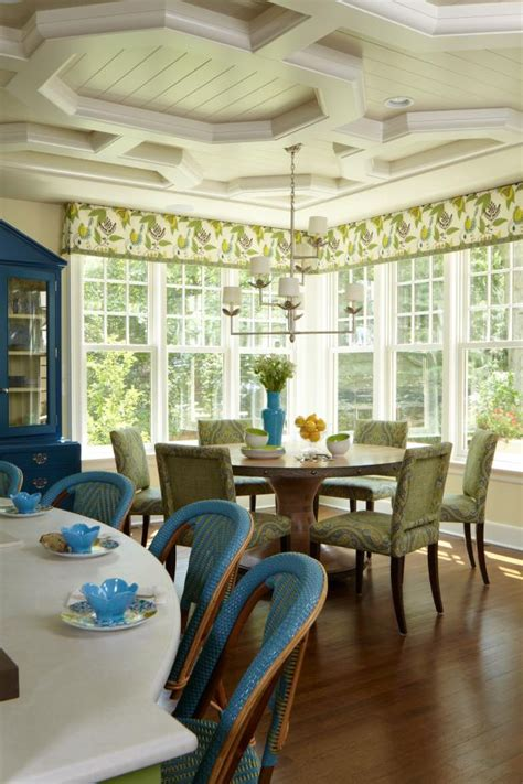 french country dining room  green chairs hgtv
