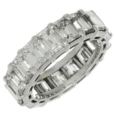 graff emerald cut platinum eternity wedding band