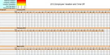Vacation Tracker Template by 2013 Employee Attendance Tracking Calendar Search