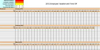 Employee Calendar Template by Vacation Accrual Spreadsheet Template Calendar Template 2017