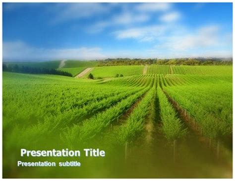 Agriculture Fields Powerpoint Templates Agriculture Powerpoint Templates