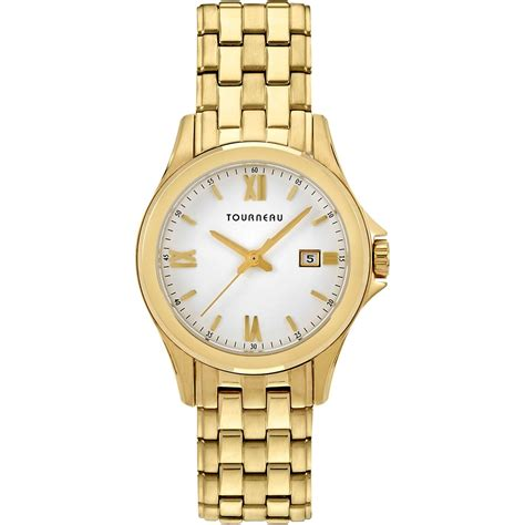 tourneau s goldtone white 32mm tlrb w067