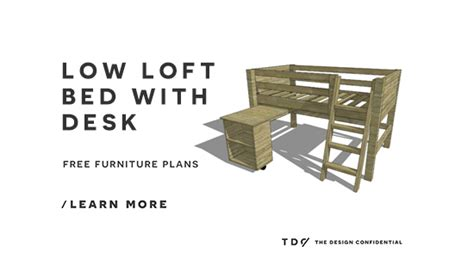diy loft bed plans with desk free diy furniture plans how to build a twin sized low