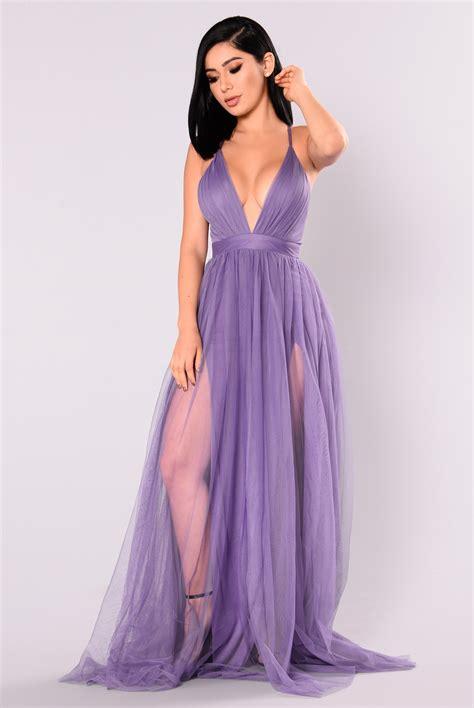 Maxi Dress Novia on the runway maxi dress purple