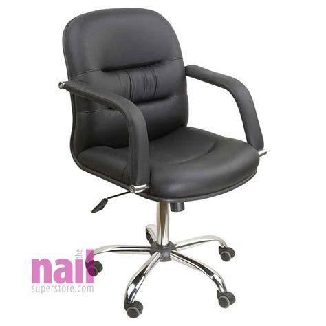 Nail Salon Chair by Eurostyle Client Chair For Manicure Table Stylish Black