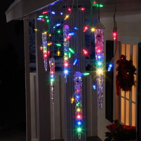 outdoor icicle christmas lights walmart lightshow 87 count led shooting star icicle christmas