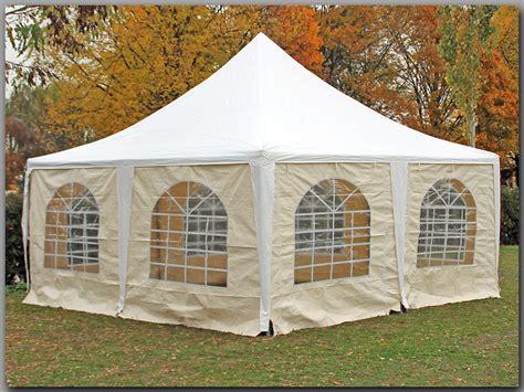pavillon 5x5m pavillon 5x5m arabica pvc wei 223 beige 5x5 meter pavillion
