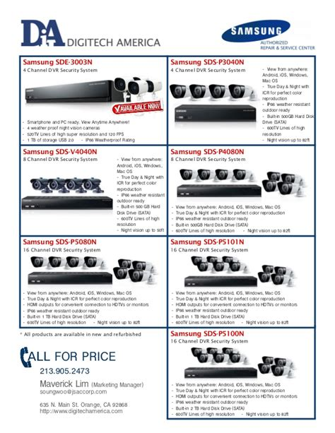 Cctv In Malaysia samsung refurbish cctv dvr security all in one package system