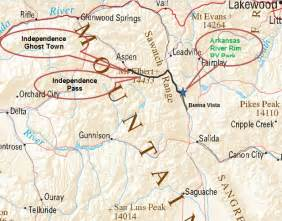 independence pass colorado map independence pass and ghost town the plin family