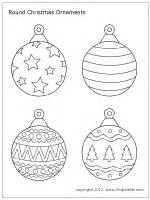 christmas tree ornaments printable templates coloring