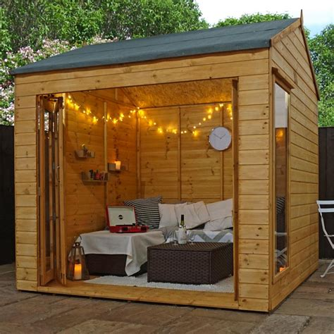 buy summer house uk 8x8 wooden summerhouse vermont garden summer house shiplap reverse apex ebay