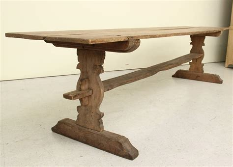19th Century Solid Pine Farm Table At 1stdibs Swedish Antique Refectory Pine Trestle Table 19th Century For Sale At 1stdibs