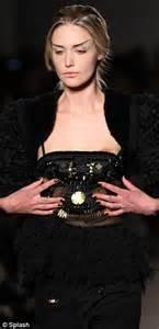 gemma kahng moment model s dress slips to reveal