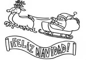 Pin trineo de pap 225 noel y cartel feliz navidad dibujos para colorear