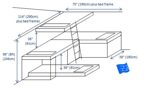 built in bunk bed dimensions woodwork built in bunk bed dimensions pdf plans