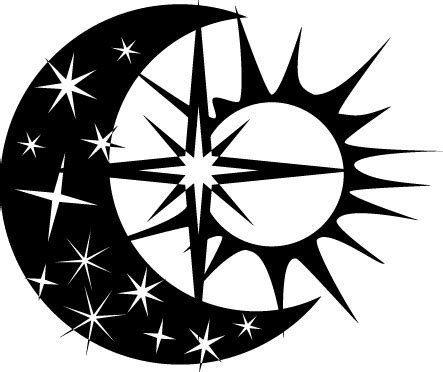estrella del sol de la luna en c 237 rculo del arco iris vinilo sol luna y estrella tenvinilo
