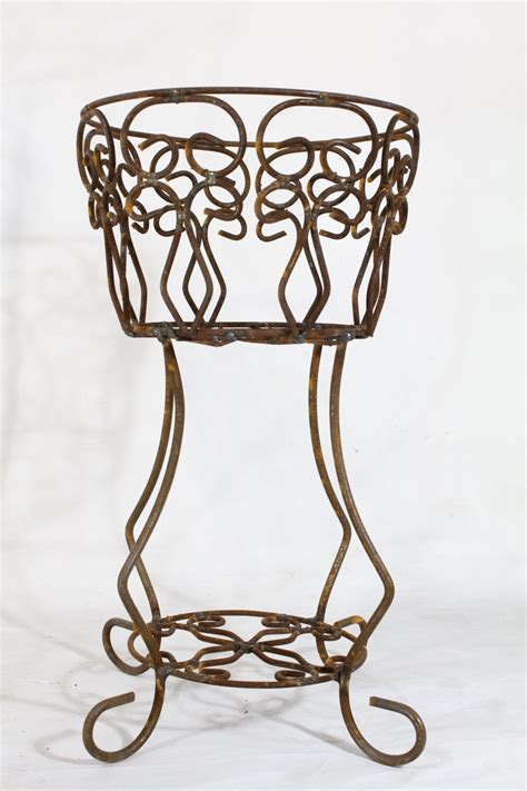 wrought iron planter wrought iron planter in 2 sizes decorative plant containers