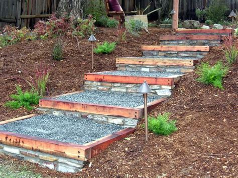 how to build a backyard house how to build redwood and stone steps stone steps stones