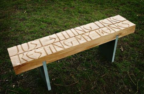 engraved garden bench garden bench ideas 14 unusual designs from wood