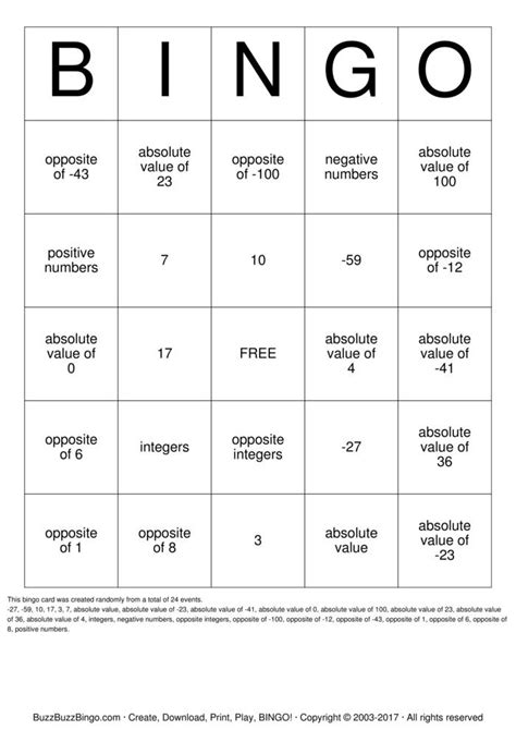 printable math board games for 6th grade 6th grade math bingo cards to download print and customize