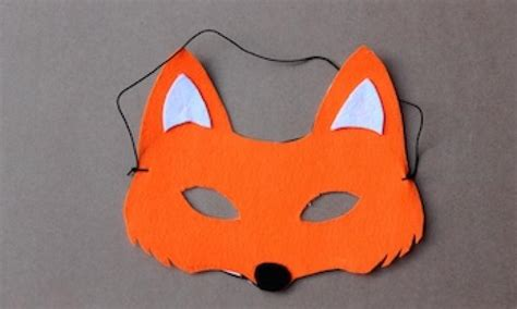 fantastic mr fox mask template make a fox mask kidspot
