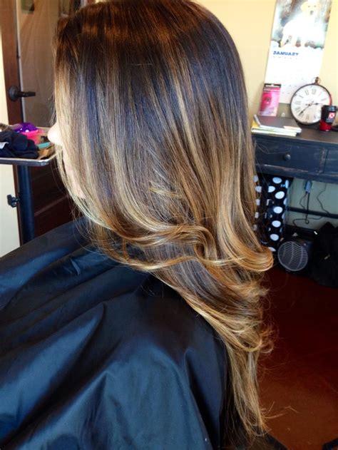 valerie burnett hair style color melting from brunette to caramel my work