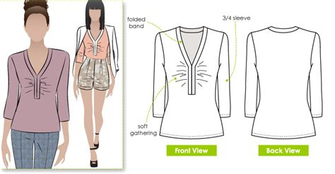 pattern review style arc stylearc eva knit top sewing pattern
