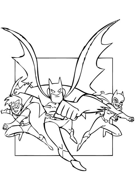 Superheroes Batman Robin And Batgirl Coloring Pages Batgirl Coloring Pages