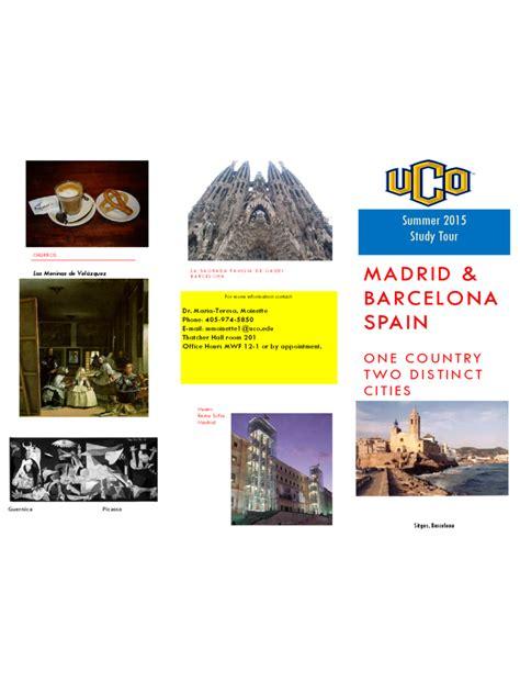spain travel brochure template   templates   word excel