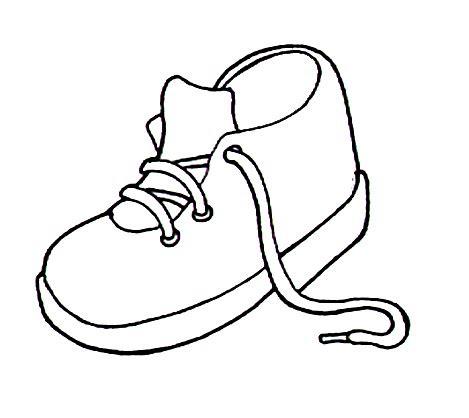 imagenes de unas zapatillas para dibujar zapato dibujo para colorear imagui
