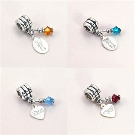 pandora charms birthstone charm with sterling silver engraved tag fits