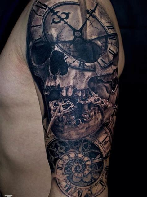 skull full sleeve tattoo designs 25 best ideas about skull sleeve tattoos on