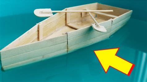Boat Paper Craft - how to make a boat with popsicle sticks handmade diy