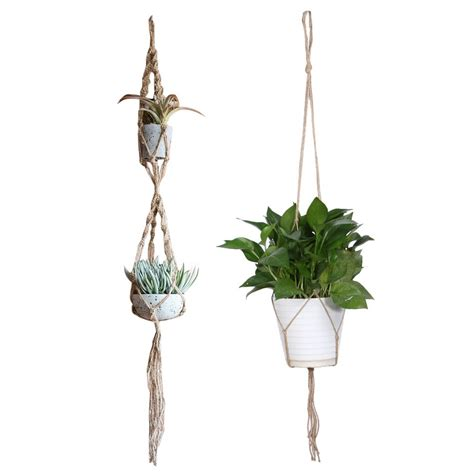 Macrame Flower Pot Holder - macrame plant hanger pot holder polypropylene fiber rope