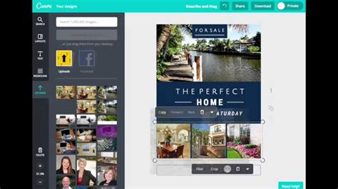 design flyers canva how to create real estate flyers with canva youtube