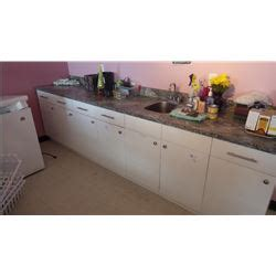 7 door 5 drawer melamine cabinet with countertop and