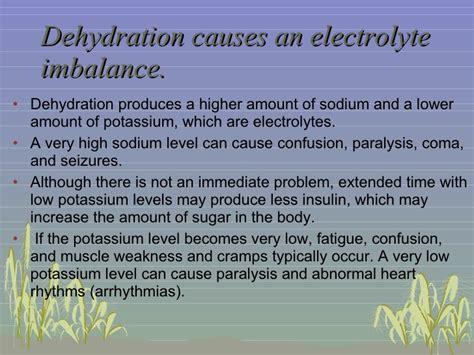 dehydration of dehydration
