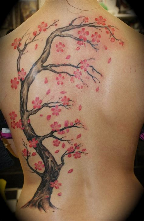 red tree tattoo cherry tree black my last